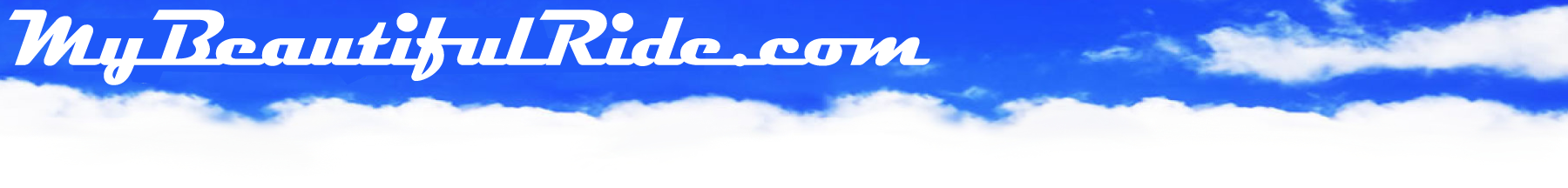 Sky Blue Banner with MyBeautiful Ride logo script