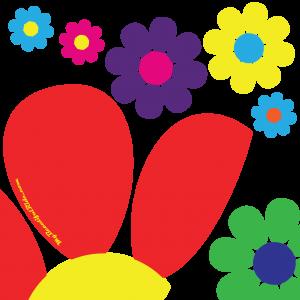 Close-Up-Flower-Power-Hippie-Dippie-daisy-custom-decal