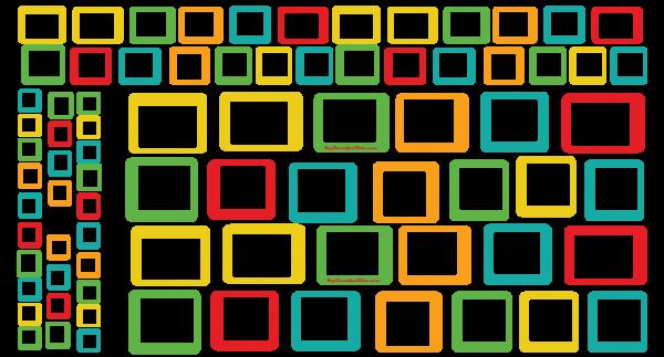 DriverPassenger-Set-Squares-Rio-Red Yellow Orange Green Turquoise