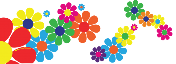 Driver's Side Layout of Flower-Power-Hippie-Dippie-Daisy