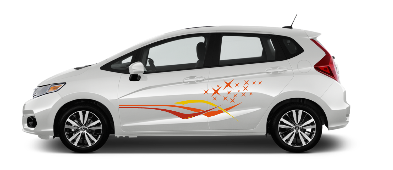 White-Honda-Fit-Galaxy-Cinnabar-Decal