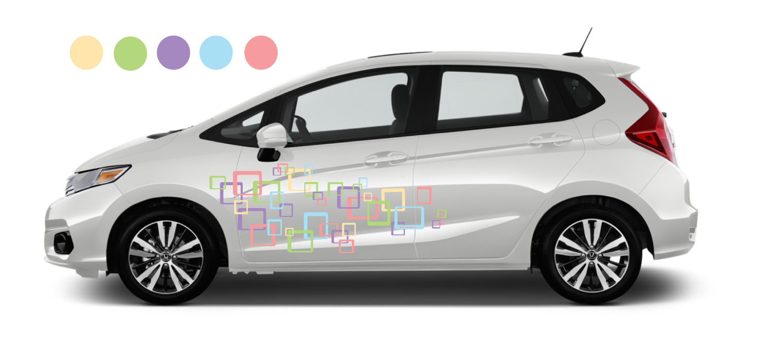 White-Honda-Fit-Squares-Spring-Decal