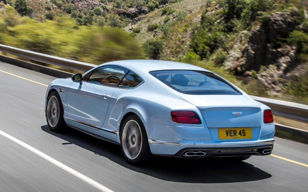 Bentley Continental GT Blue driving